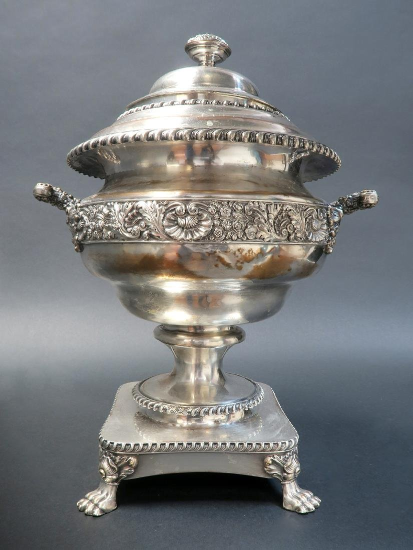 Magnificent Silver-Plate Samovar, 19th C. - 3