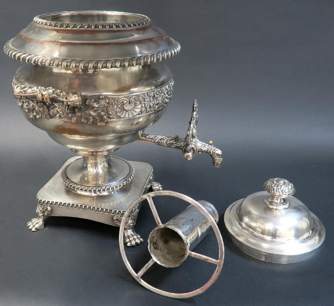 Magnificent Silver-Plate Samovar, 19th C. - 5