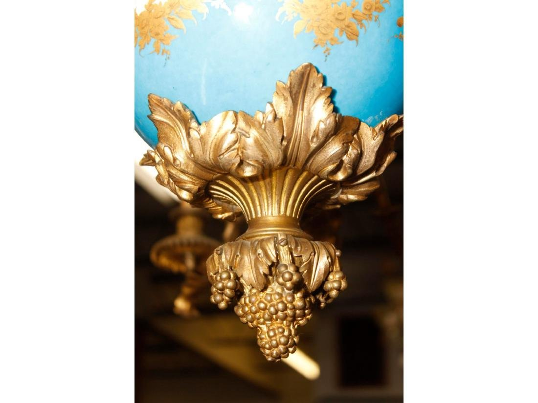 A Large Louis XV Style Sevres Chandelier - 5