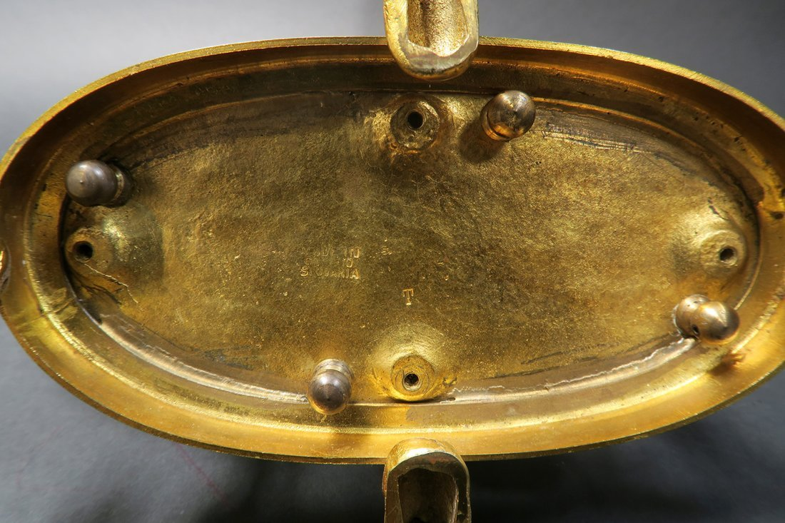Beautiful Figural Bronze & Baccarat Crystal Centerpiece - 4