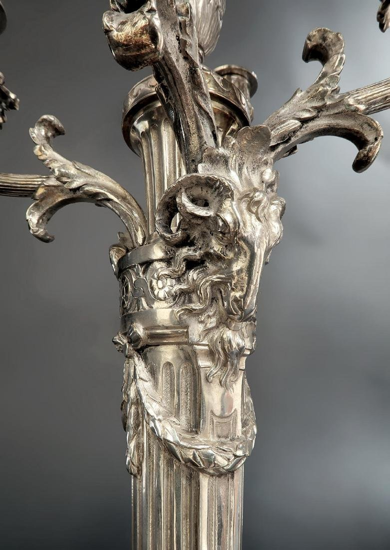 Pair of 19th C. Silver-Plated 20'' Candelabras - 3