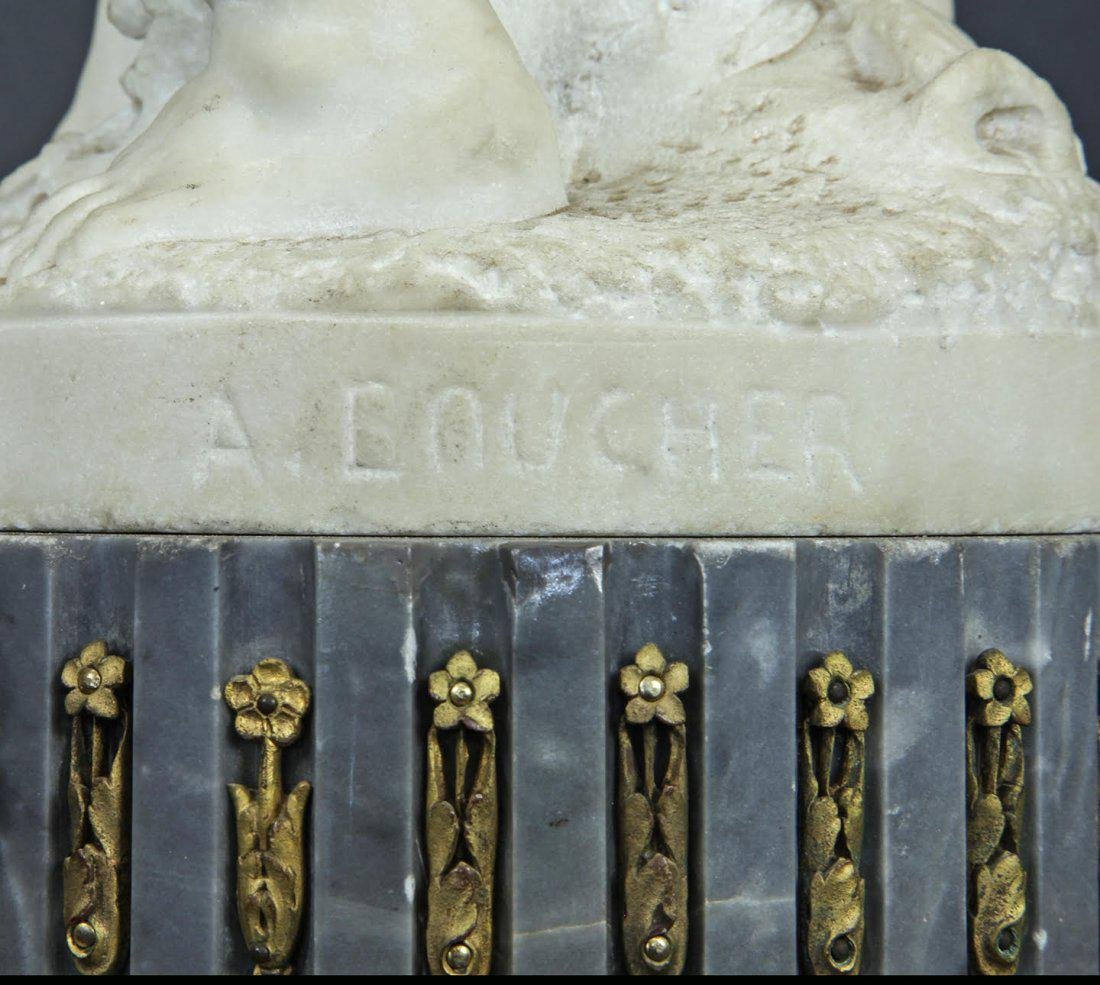 Monumental Pair of French Marble & Gilt Candelabras - 5