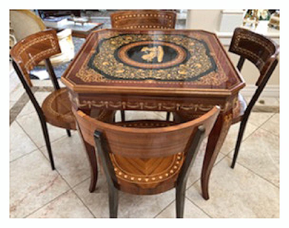 An Italian Neoclassical Marquetry Games Table