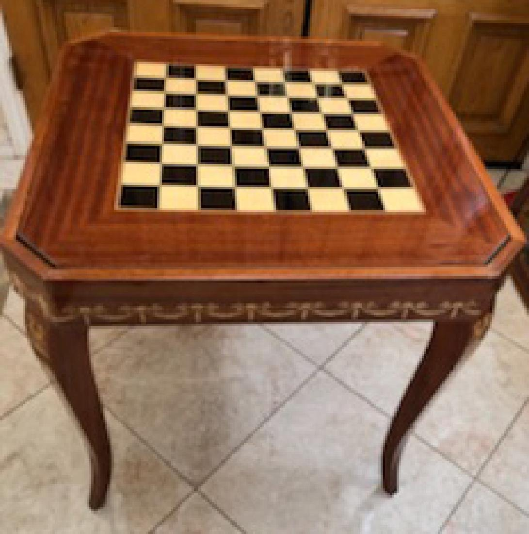 An Italian Neoclassical Marquetry Games Table - 5