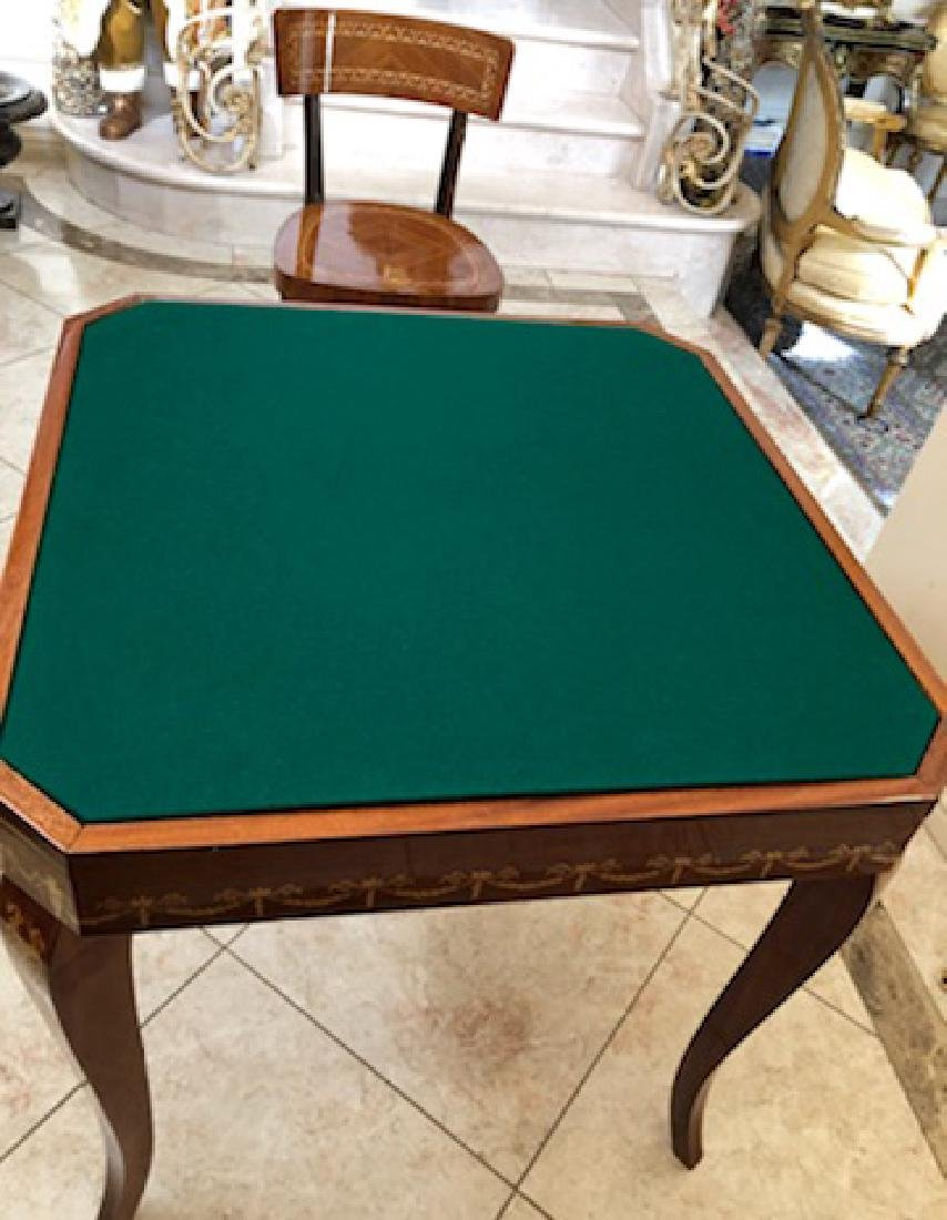 An Italian Neoclassical Marquetry Games Table - 6
