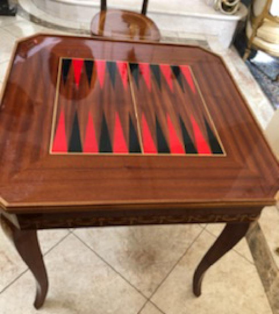 An Italian Neoclassical Marquetry Games Table - 7
