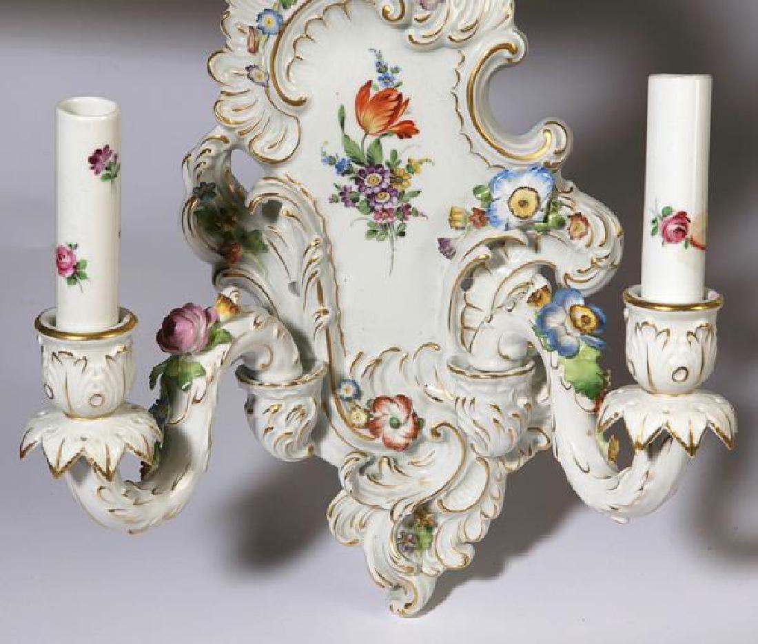 Pair of Schierholz Porcelain wall sconces - 2