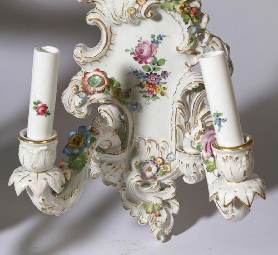 Pair of Schierholz Porcelain wall sconces - 3
