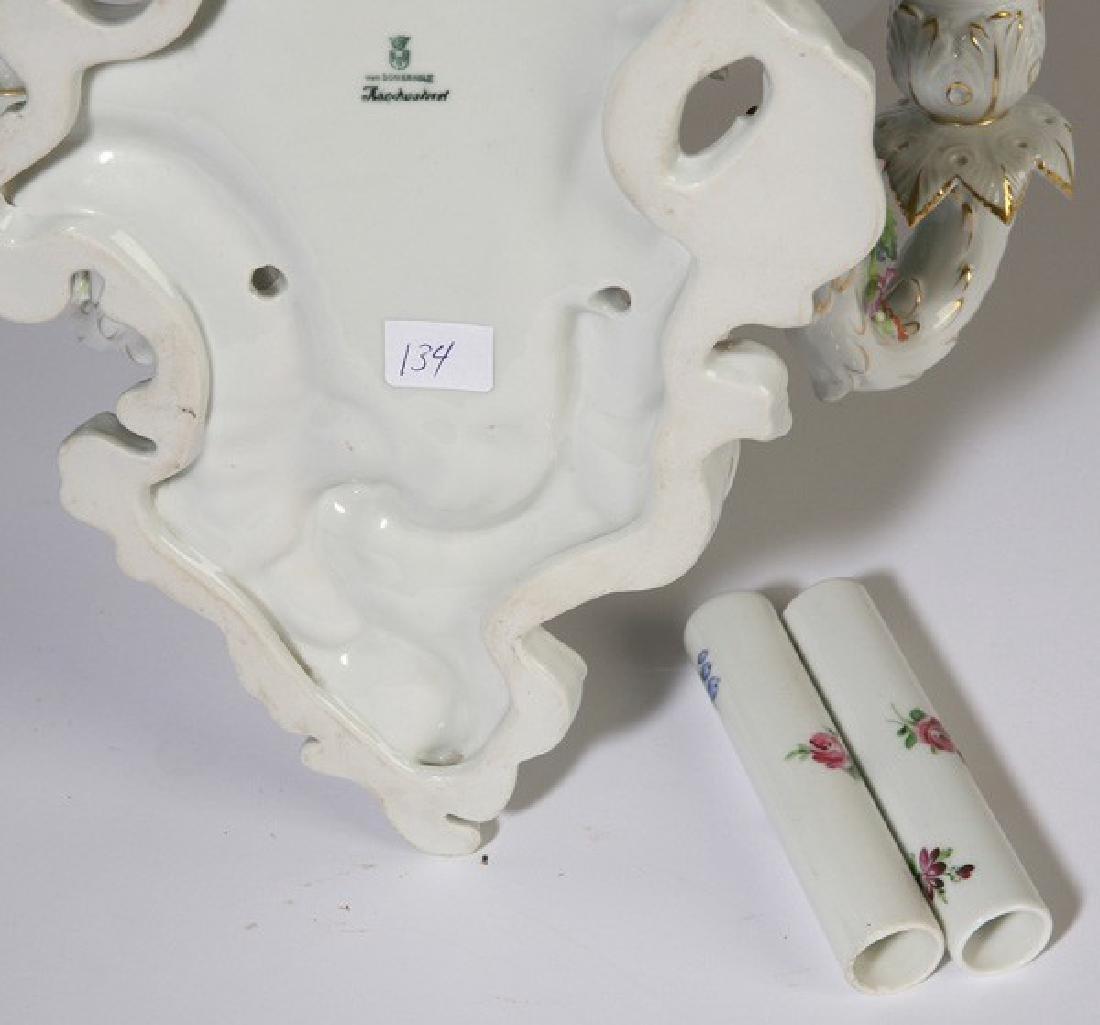 Pair of Schierholz Porcelain wall sconces - 5