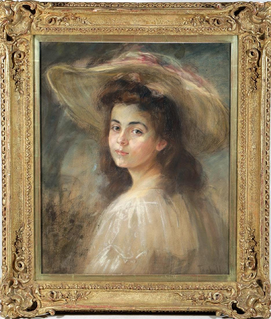 "Edmund Charles Tarbell's ""Young Lady with Hat"" Painting"