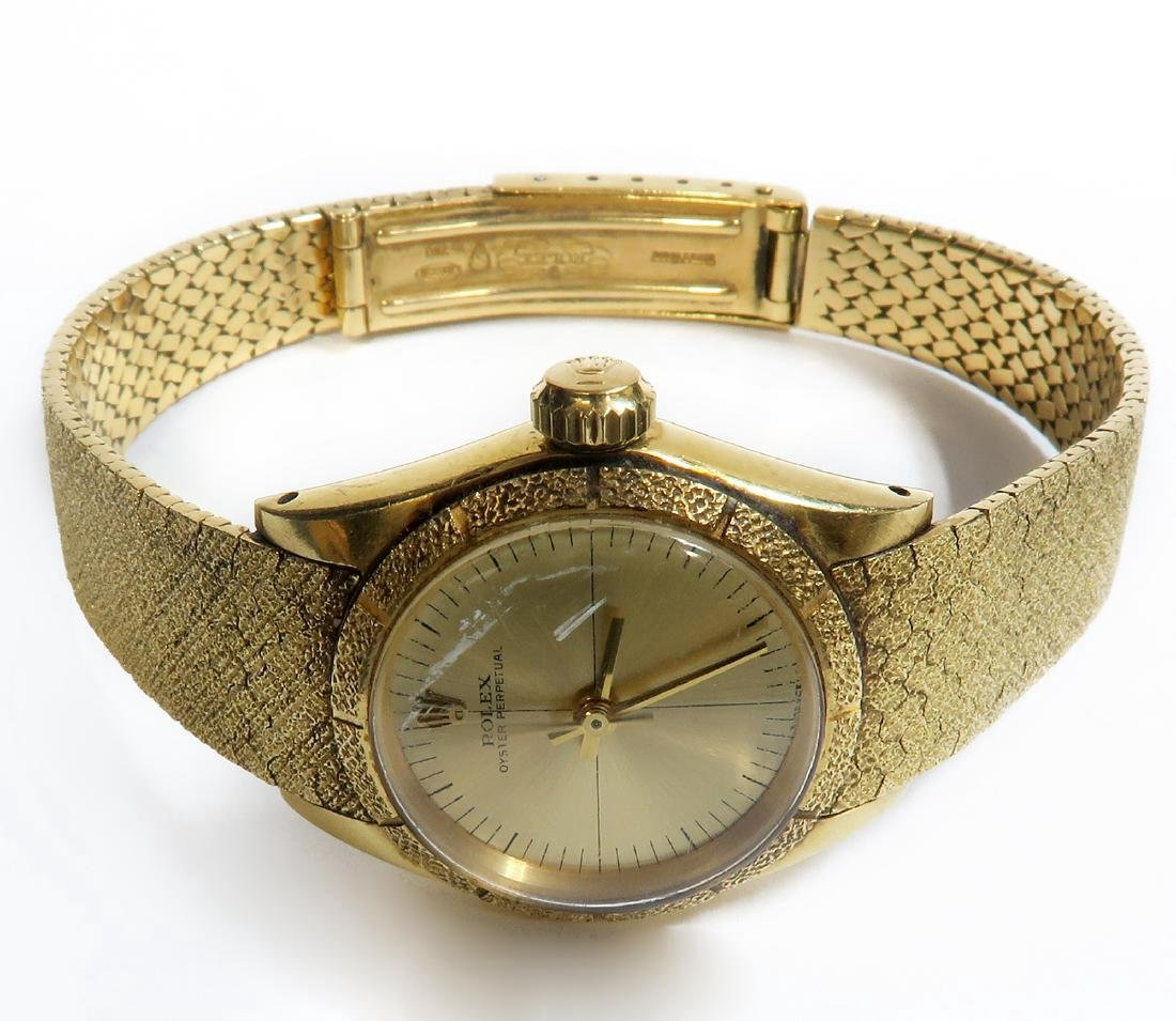 18K Gold Oyster Perpetual Rolex Ladies Wrist Watch - 2