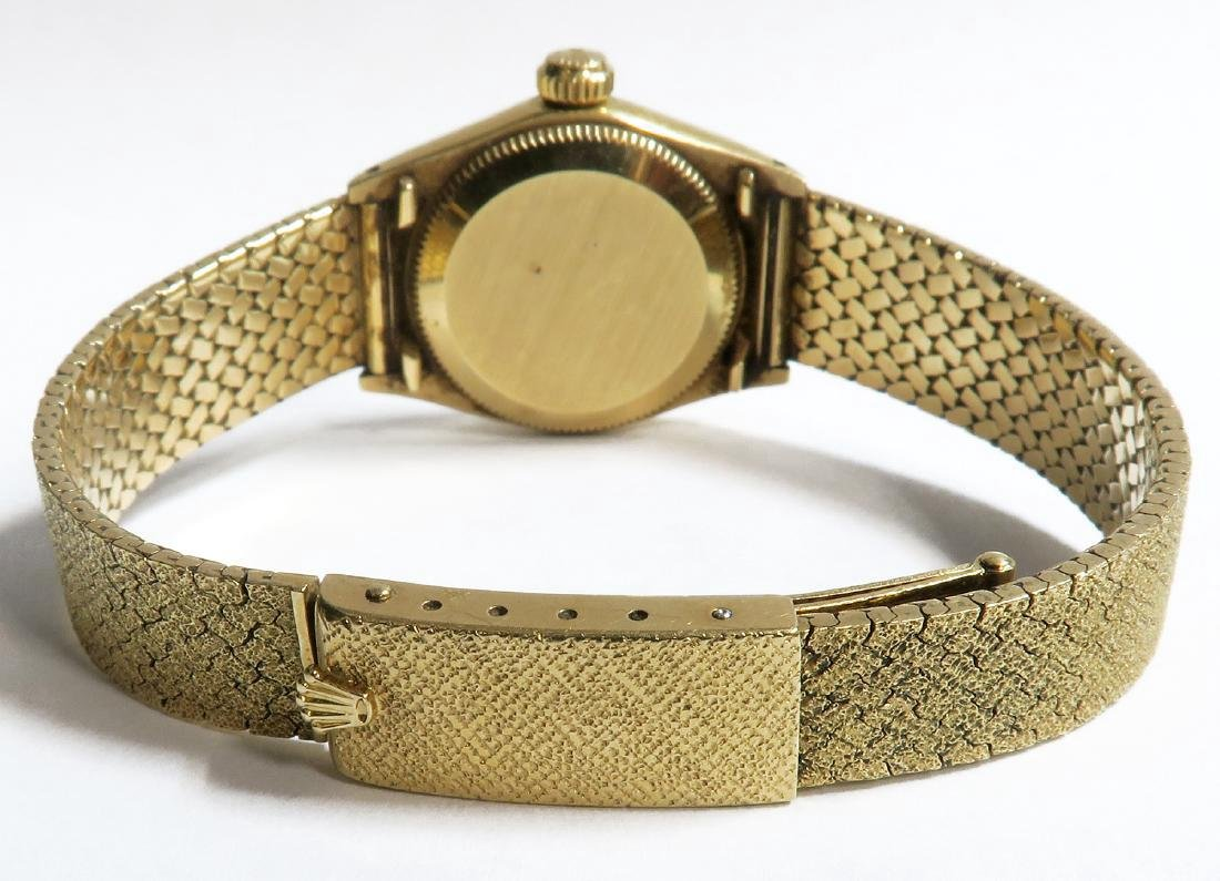 18K Gold Oyster Perpetual Rolex Ladies Wrist Watch - 4