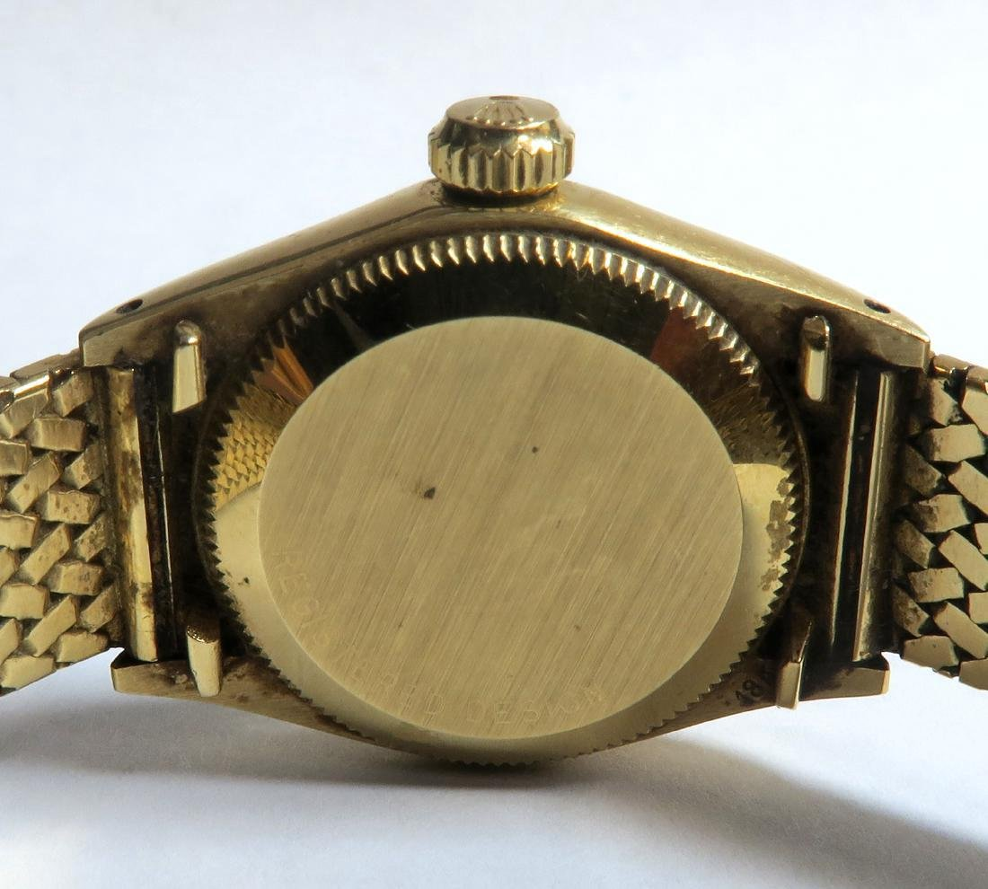 18K Gold Oyster Perpetual Rolex Ladies Wrist Watch - 7