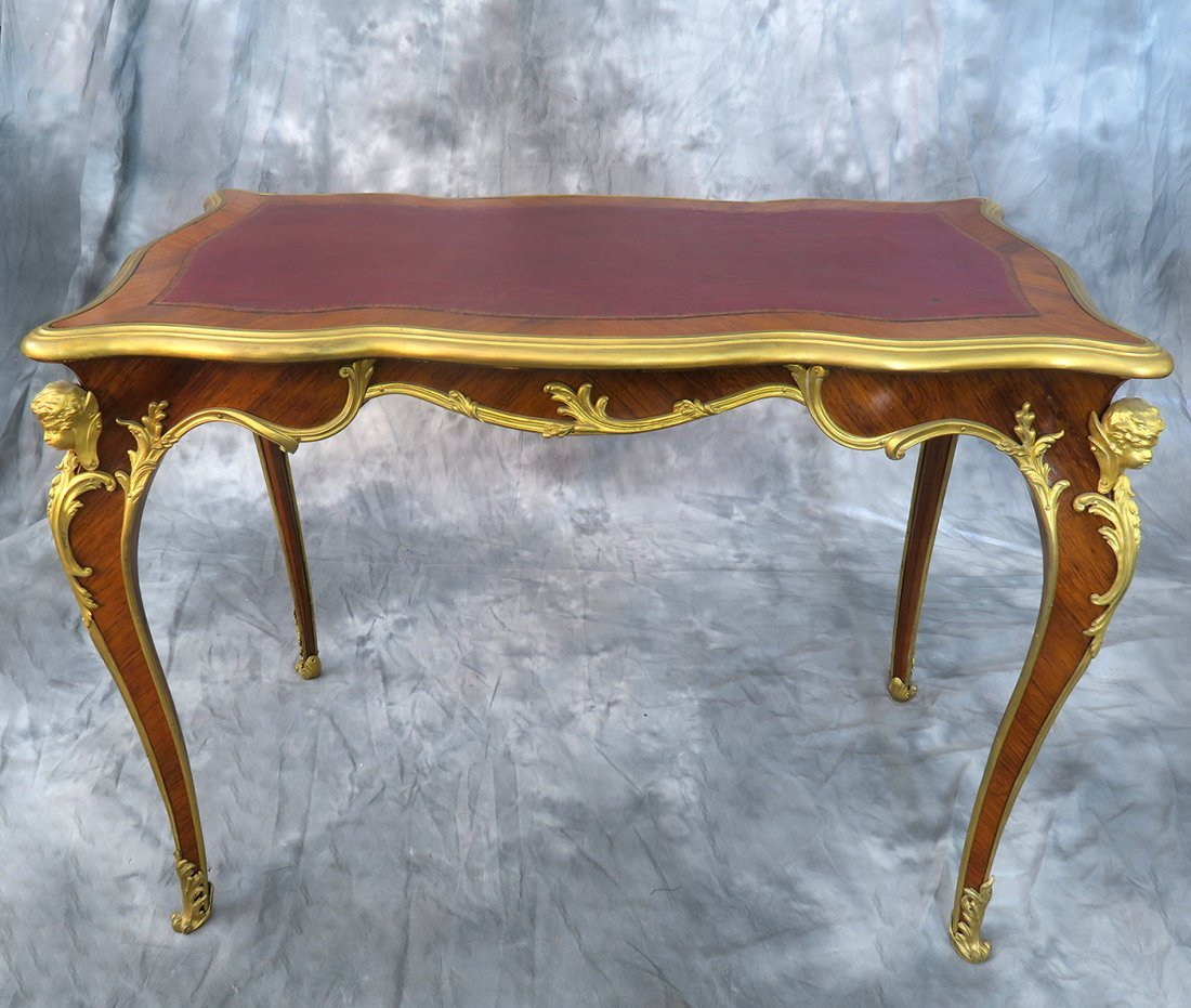 "19th C. ""F. Linke"" Signed Luis XV style Kingwood Table - 2"