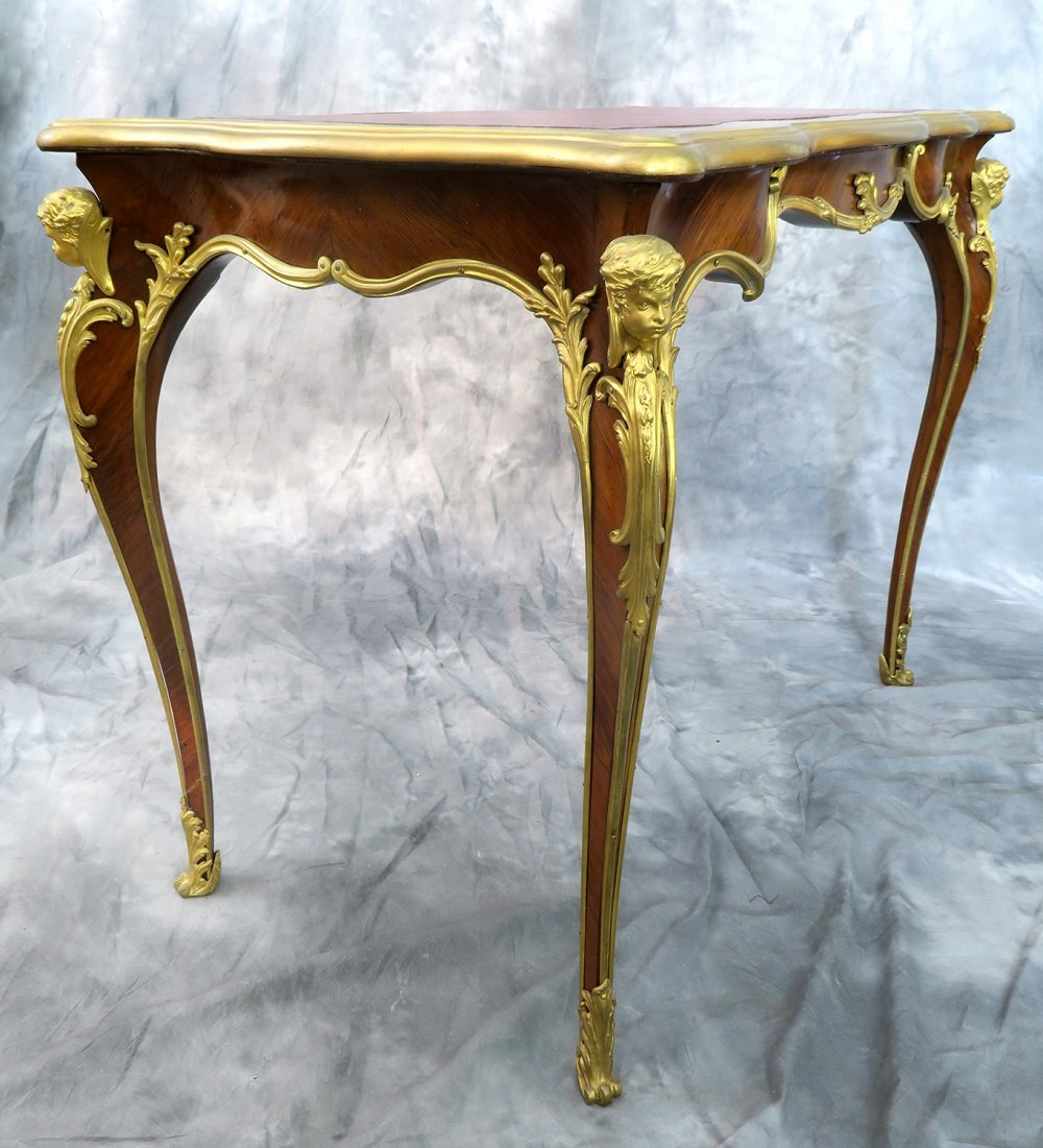 "19th C. ""F. Linke"" Signed Luis XV style Kingwood Table - 3"