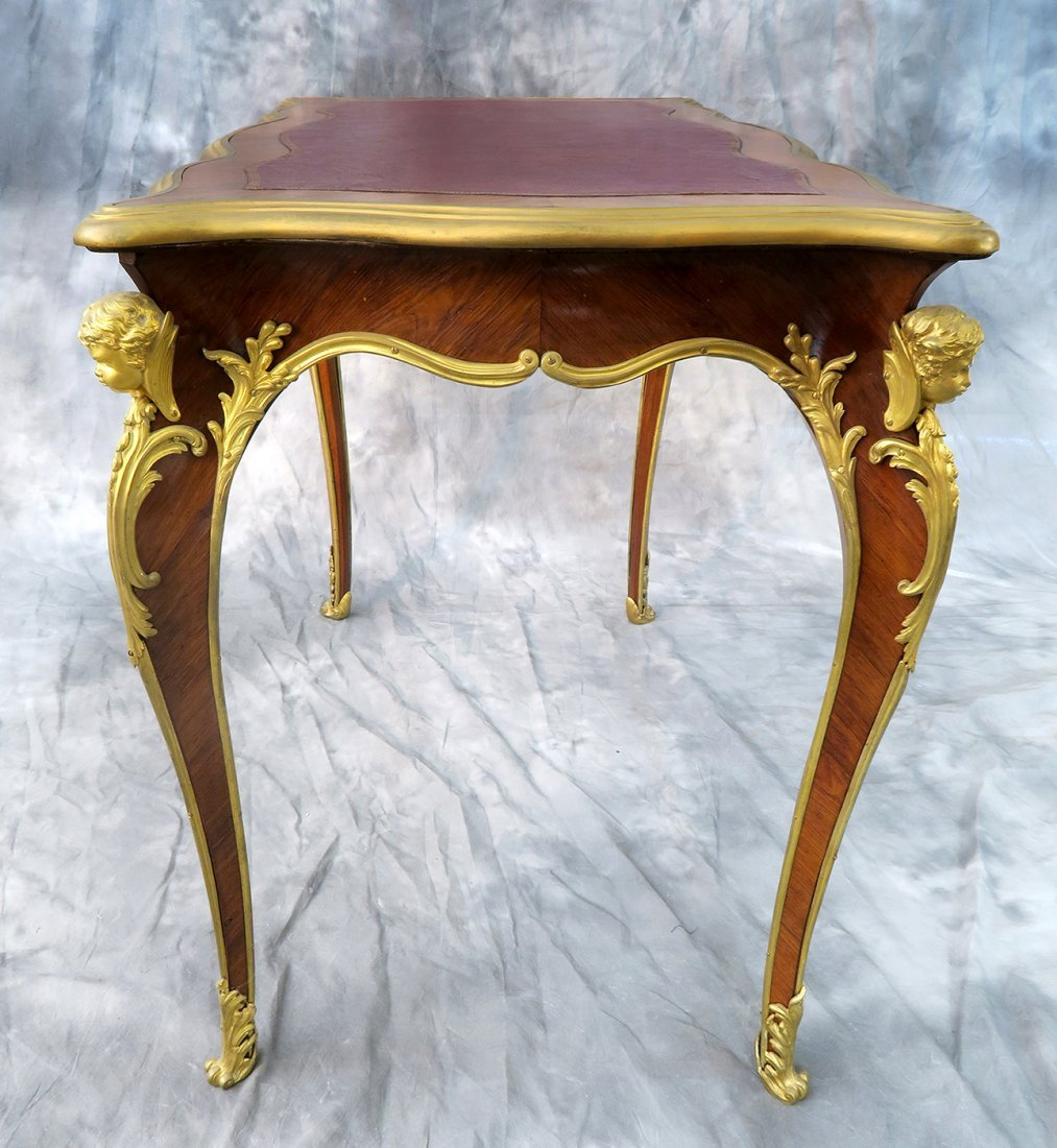 "19th C. ""F. Linke"" Signed Luis XV style Kingwood Table - 4"