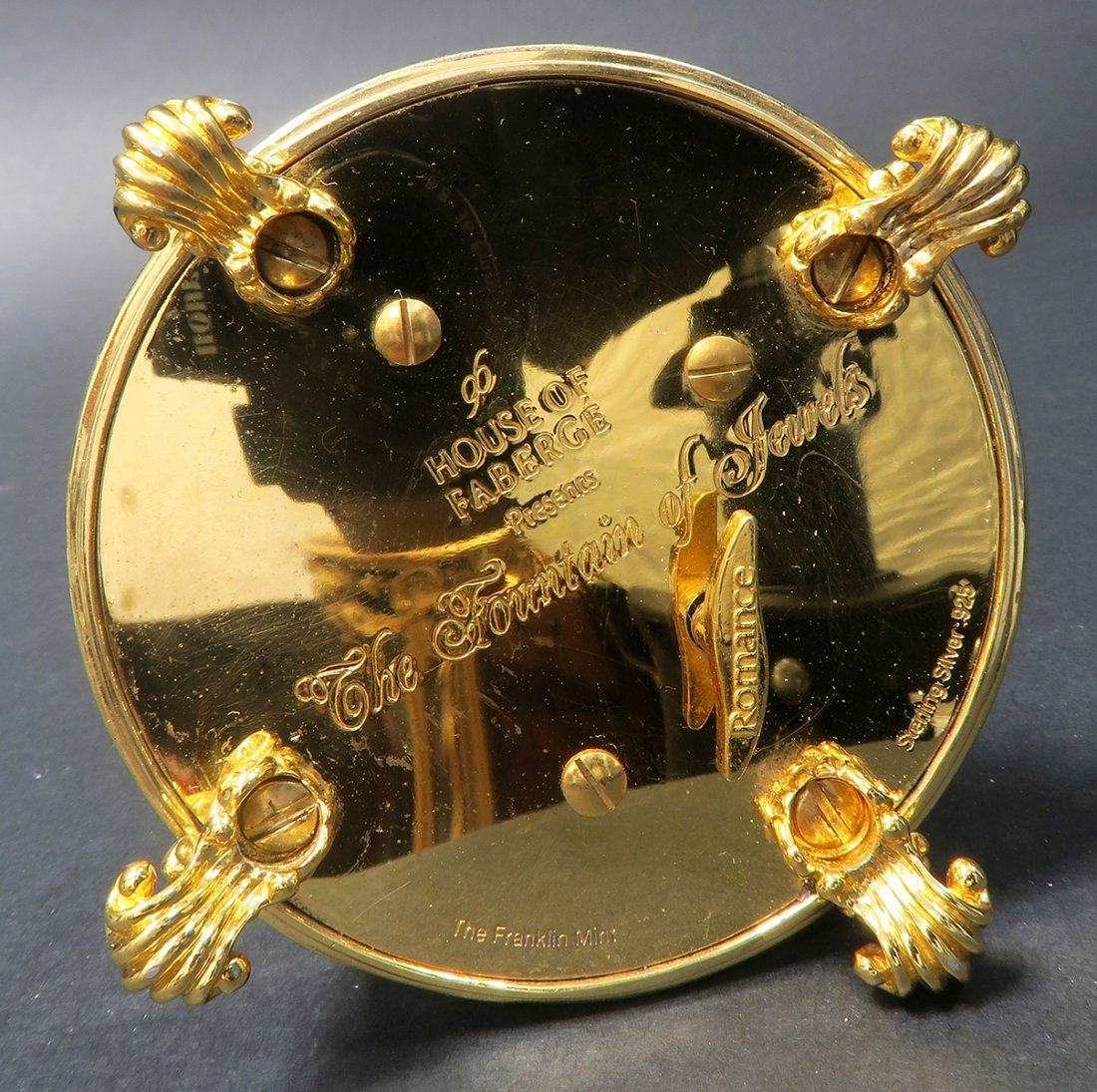 Faberge Sterling Silver & Gold Music Box Egg - 7