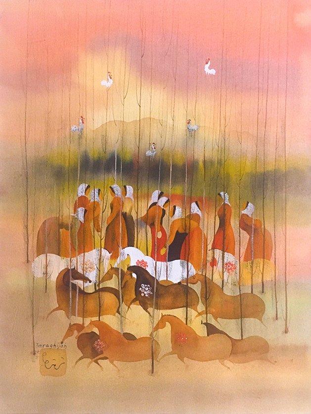 Famous Persian Artist Mohammad Ali Taraghijah Painting