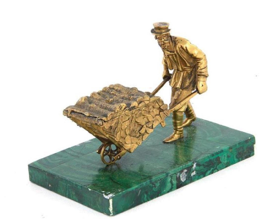 Continental gilt-bronze sculpture