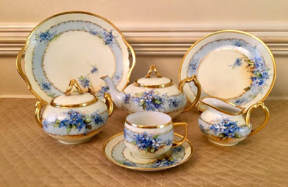 Limoges and M & Z Austria Marked Tea Set (16 Pcs)