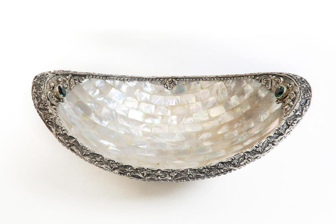 Mother of Pearl & Sterling Silver Centerpiece
