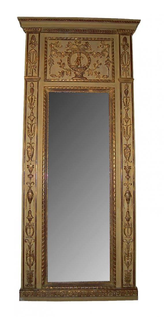 Very Fine 19th C.French relief sculpted mirror