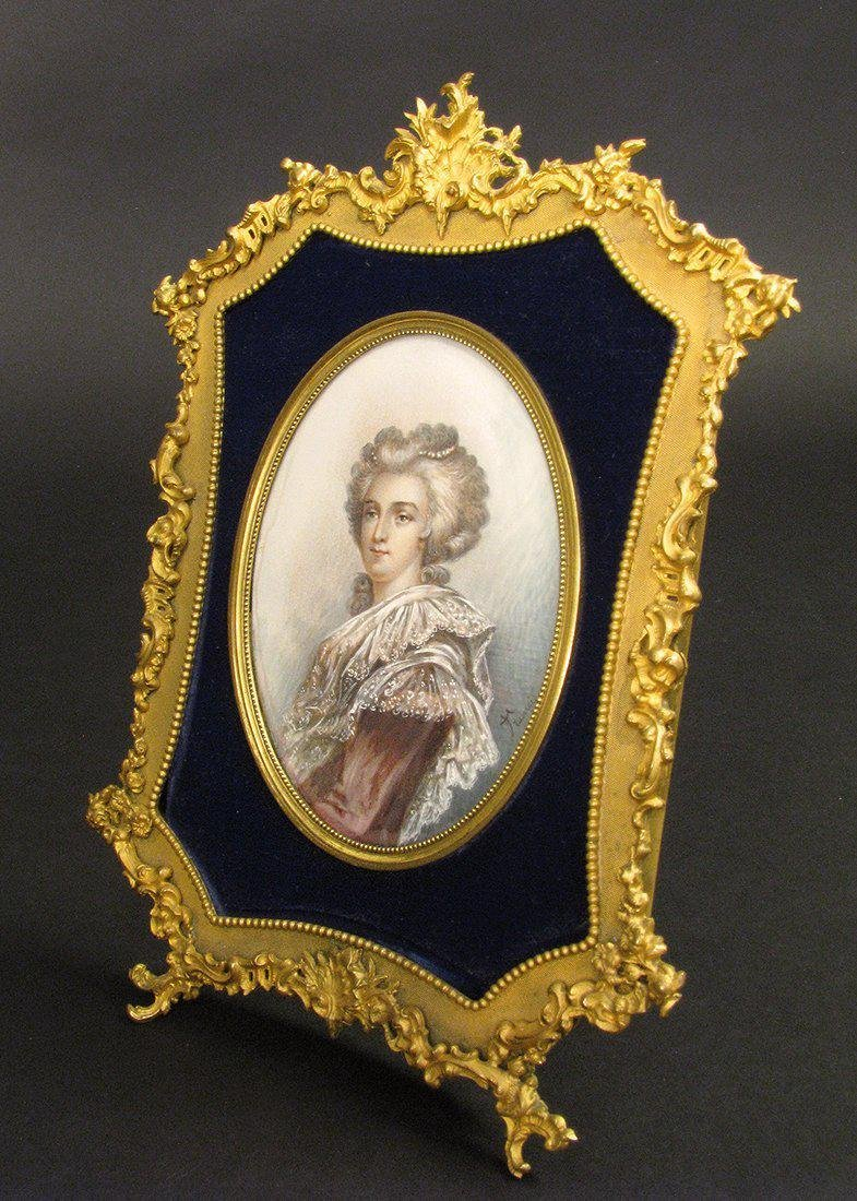 Exceptional Painting in a Very fine Bronze Frame