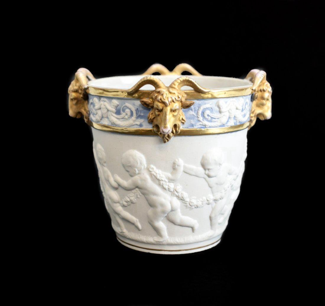 19th Century Sevres Porcelain Cache Pot