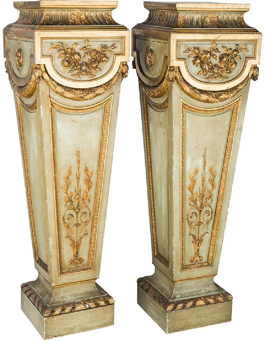 Pair of 19th C. French Gilt wood Pedestals
