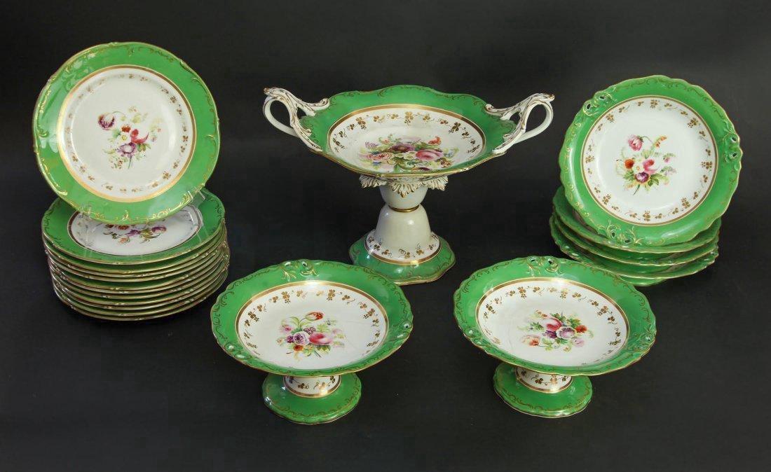 An Assembled Decorated Porcelain Part Dinner Service