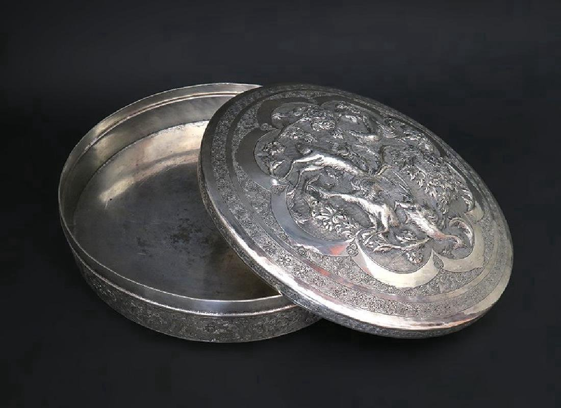 Magnificent Persian Hand Made, Hand Chased 84 Silver Bo