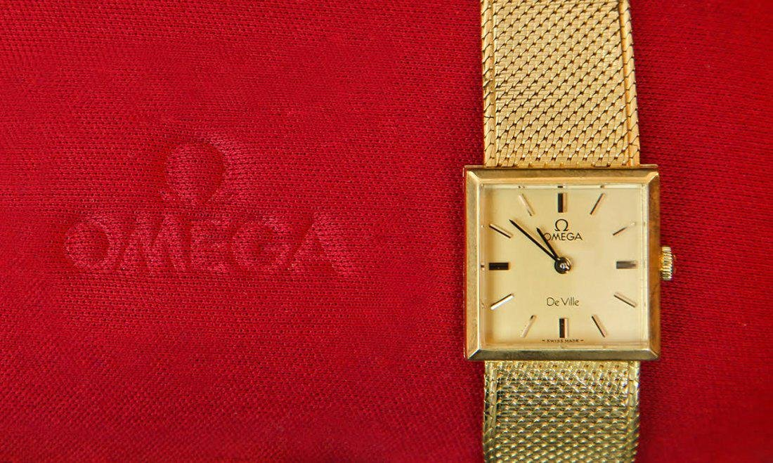 18K Gold Omega De Ville Watch