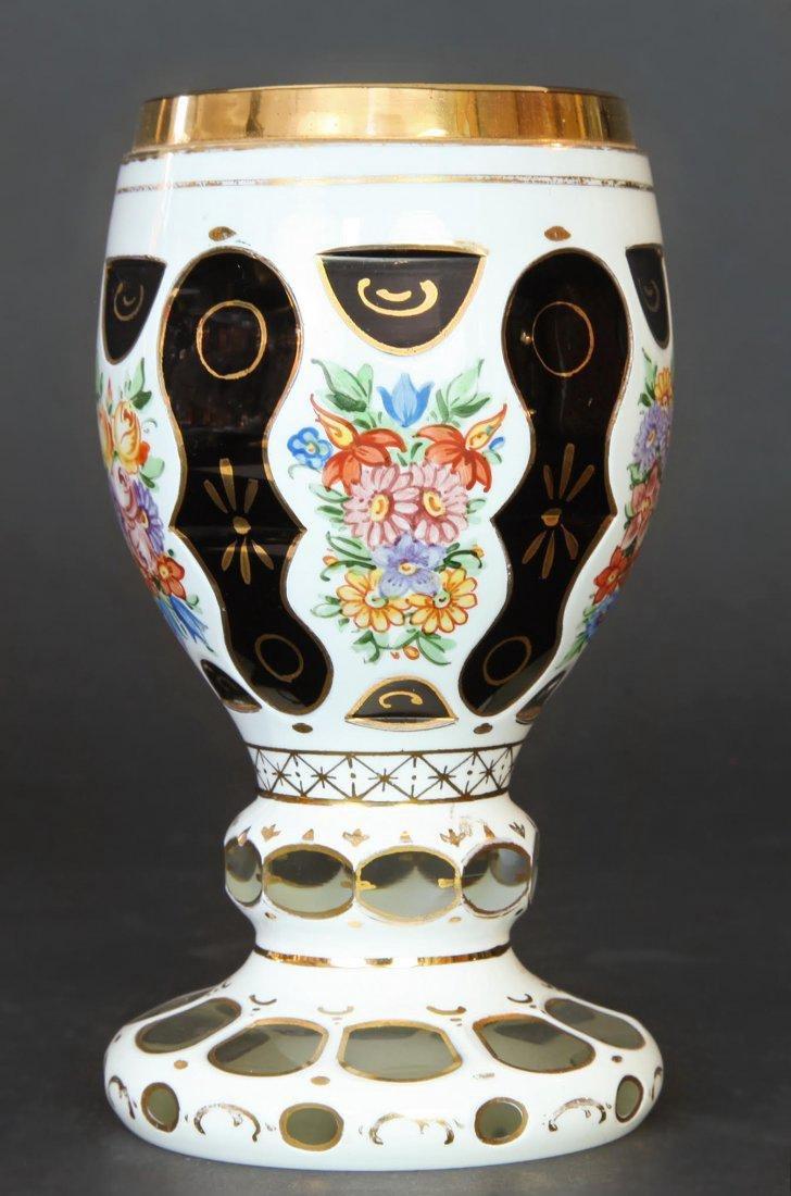 Bohemian Enameled Glass Vase