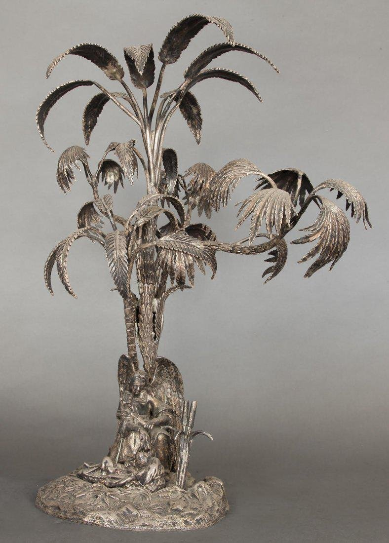 Large 19th C. Figural Silver-Plated Epergne