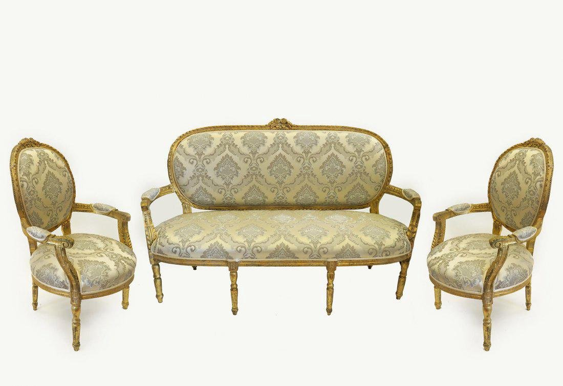19th C. French Louis XVI Style Salon Set