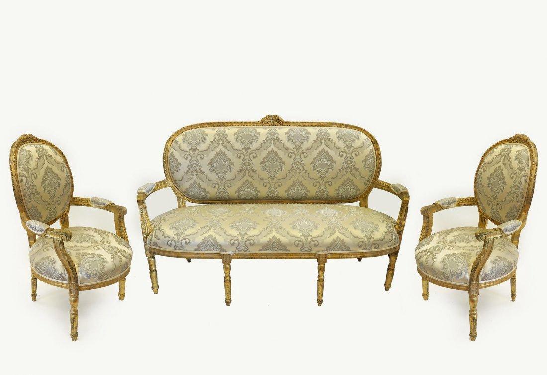 19th C. French Louis XVI Style Salon Set