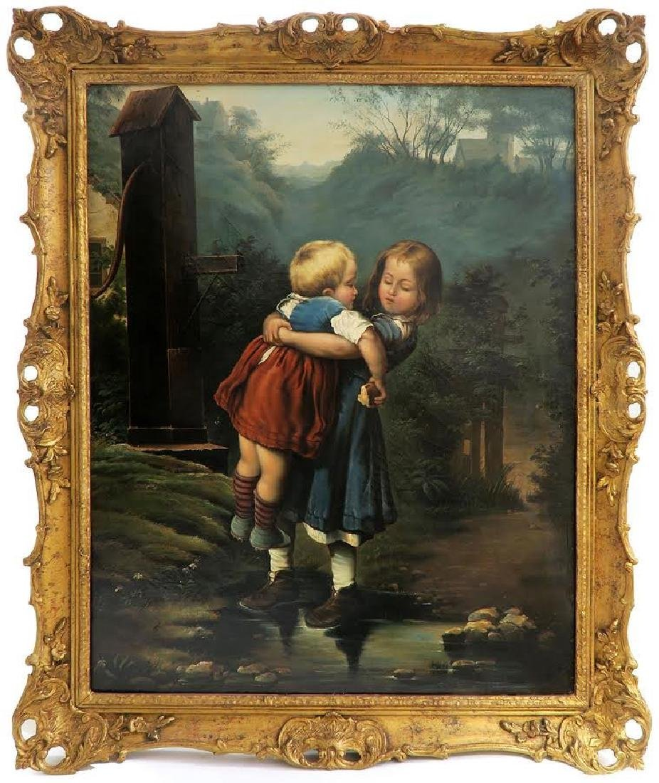 French School Oil on Canvas 19th Century Painting