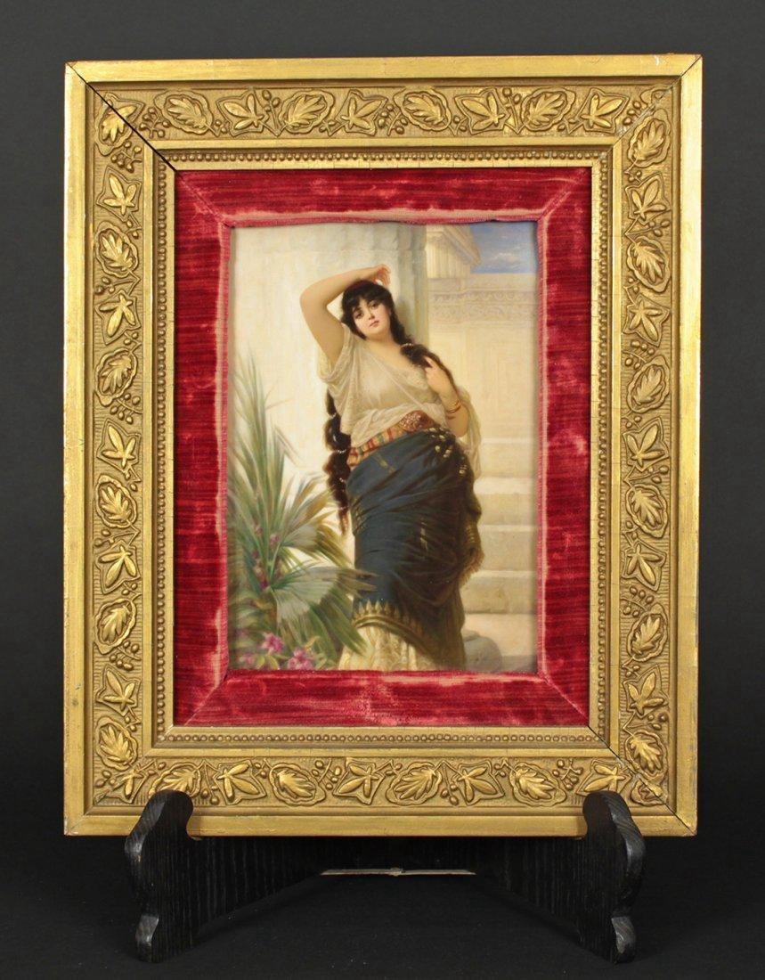 19 cent Plaque of maiden. KPM