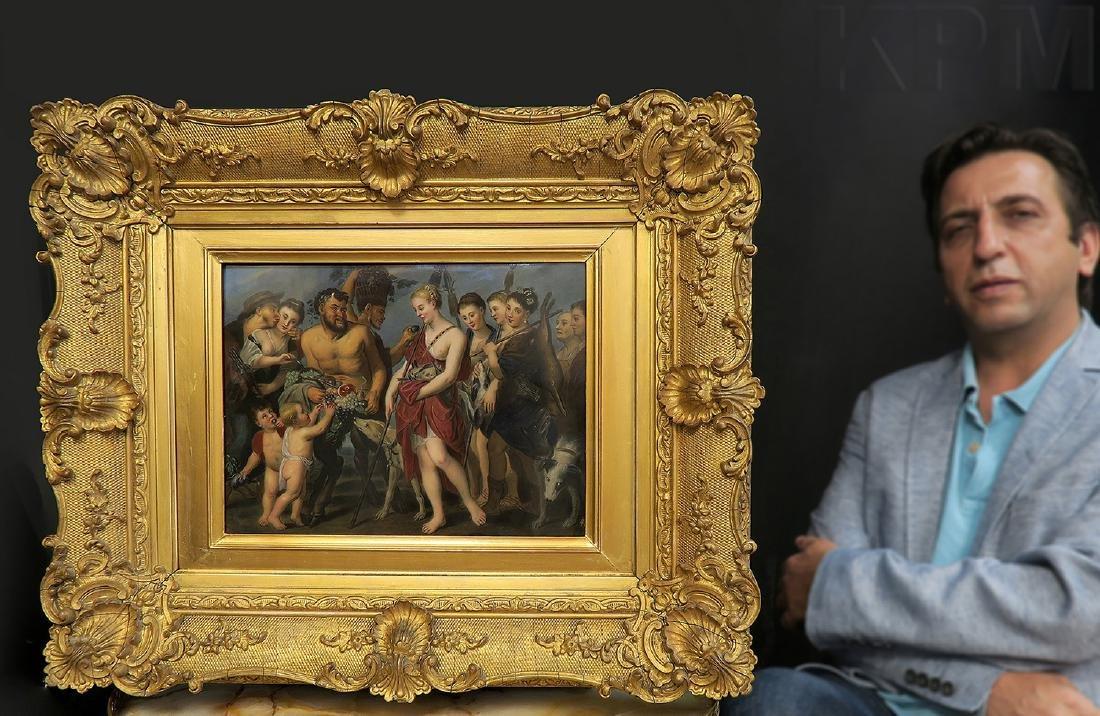 Large Framed Berlin KPM Plaque after Rubens