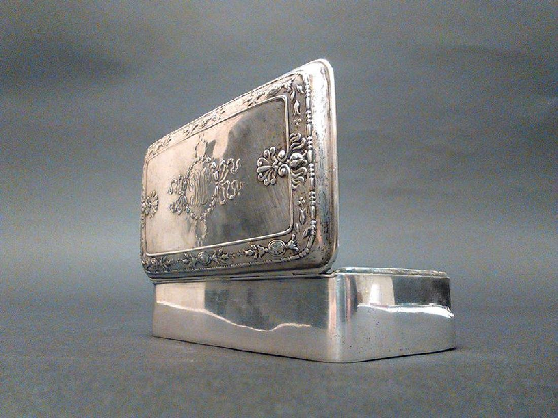 19th C. French Sterling Silver Jewelry Box