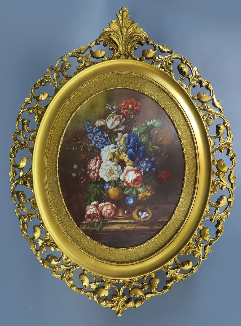 Large KPM Oval Porcelain Plaque Circa 1890