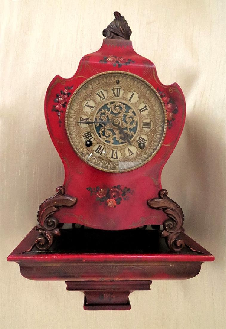 Rare Ansonia Bracket Clock with original Bracket