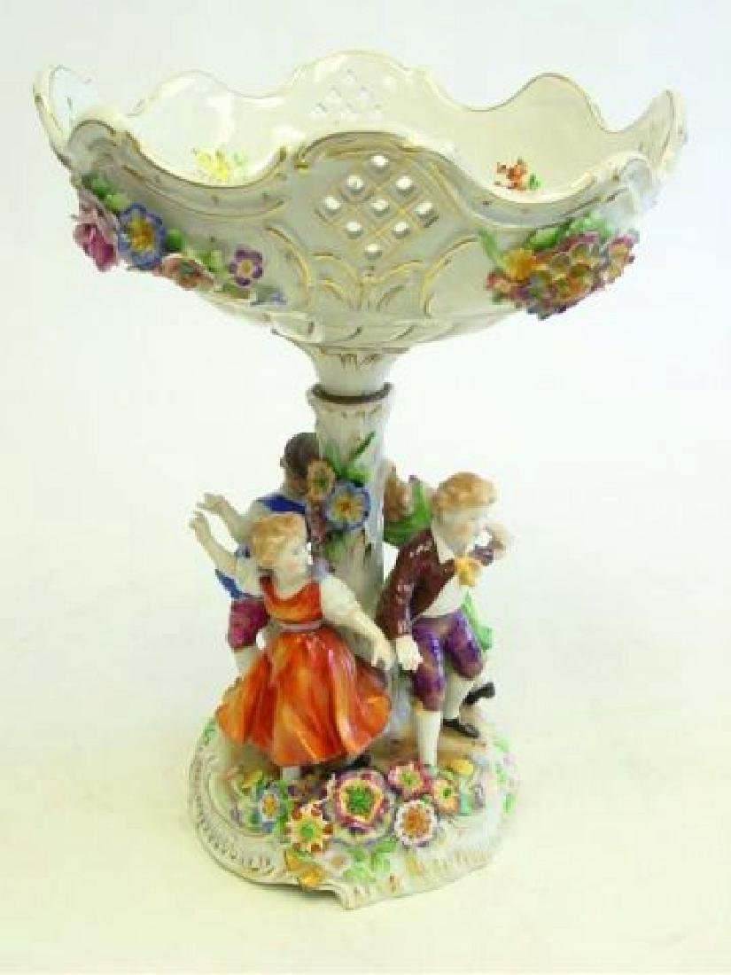 """Dancing Children"" Dresden Porcelain Centerpiece"