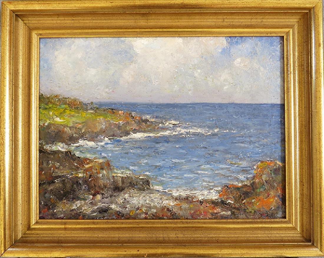 "CULLEN YATES ""SEA LANDSCAPE"" OIL ON CANVAS"