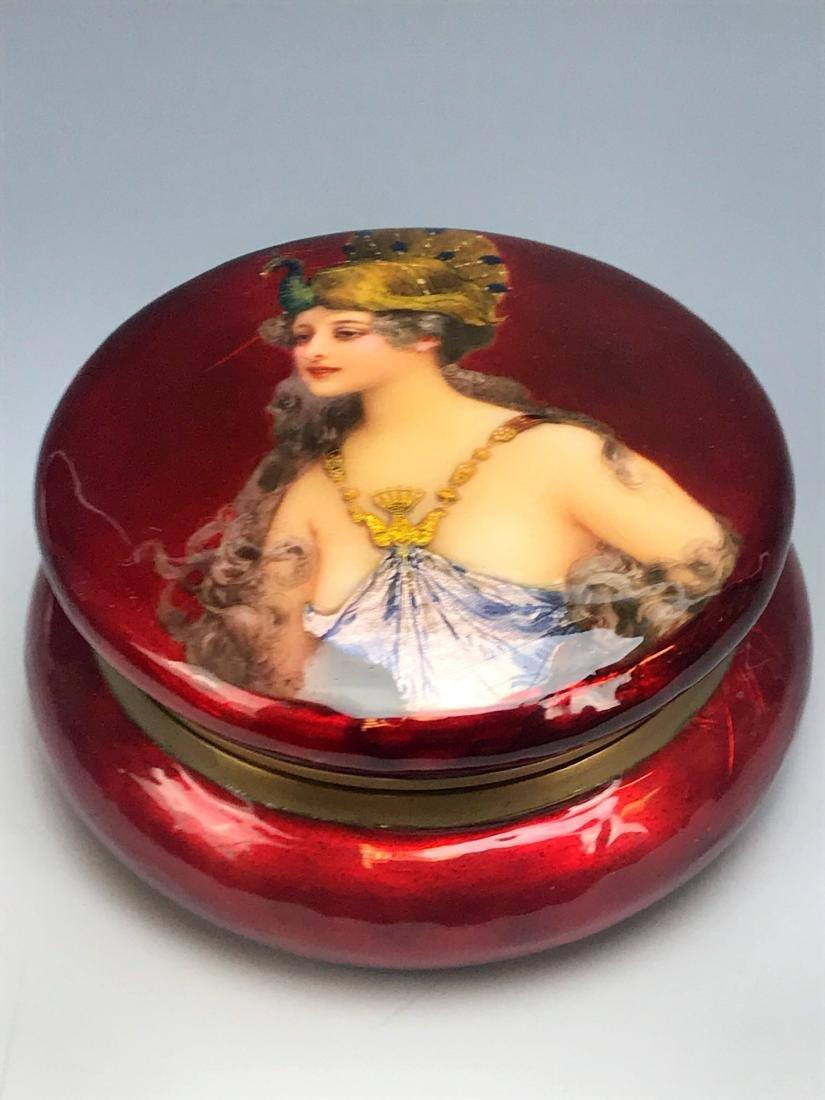 19th C. French Enamel Jewelry Box