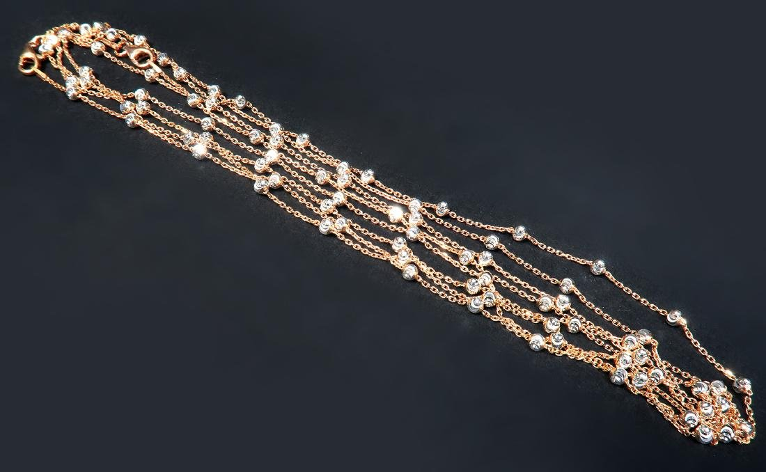One Kilo Gram Italian Rose Gold Necklace Chain