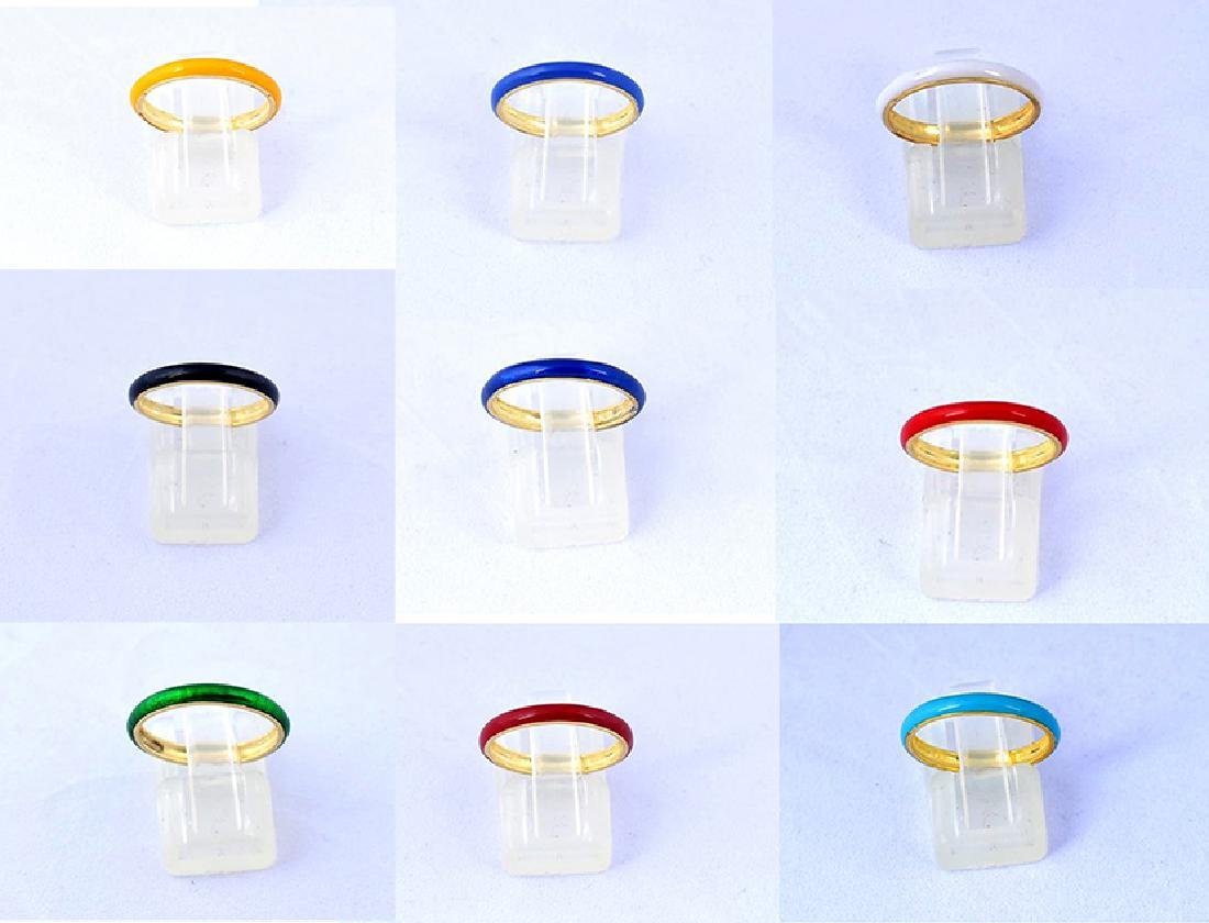 7 Colors of Stack-able Hand Fabricated Hot Enamel Bands