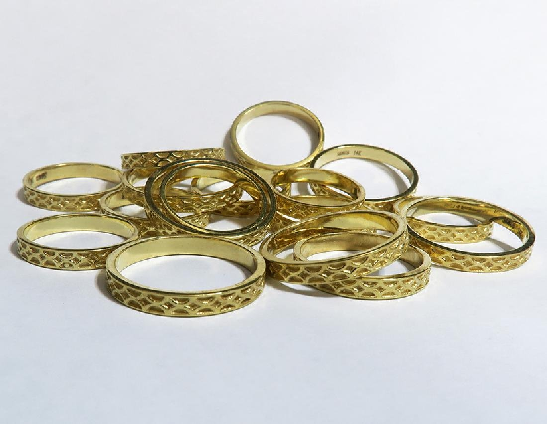 31.7 Grams 14K Yellow Gold Hand Fabricated Bands