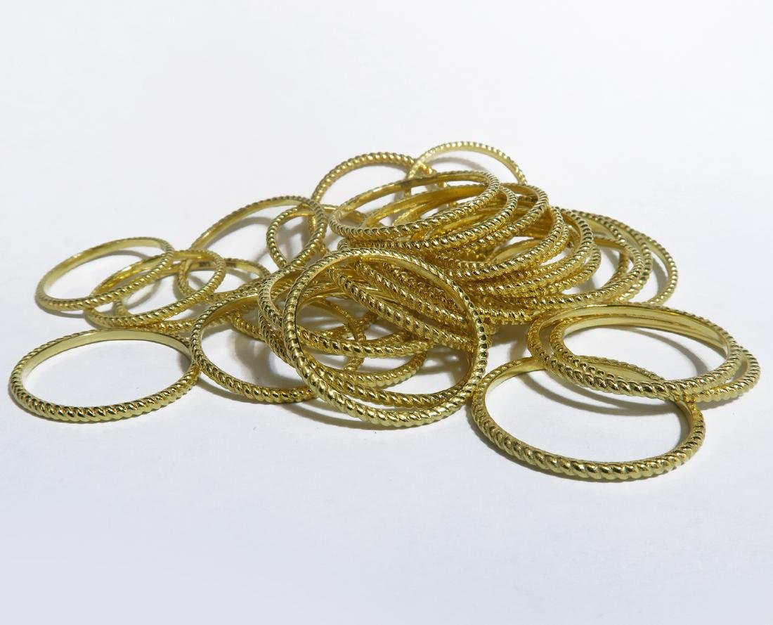 14K yellow Gold Hand Fabricated Twisted Wire Bands