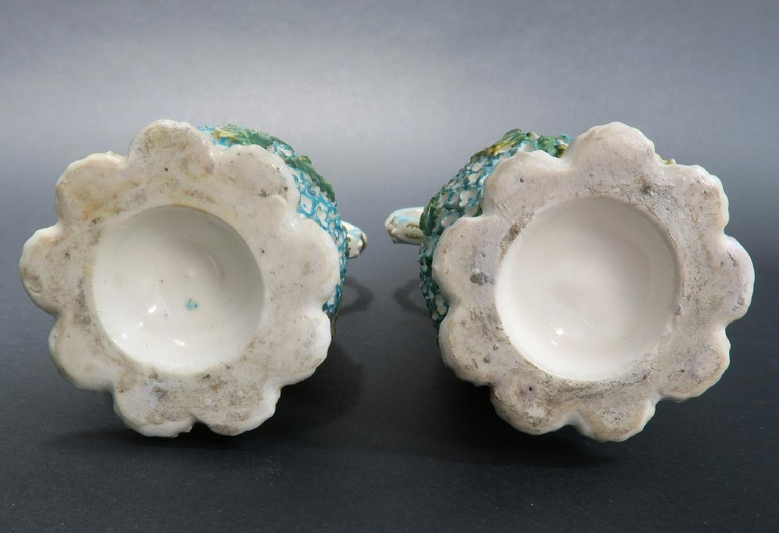 19th C. Pair of Meissen Style Snowball Pitchers - 4